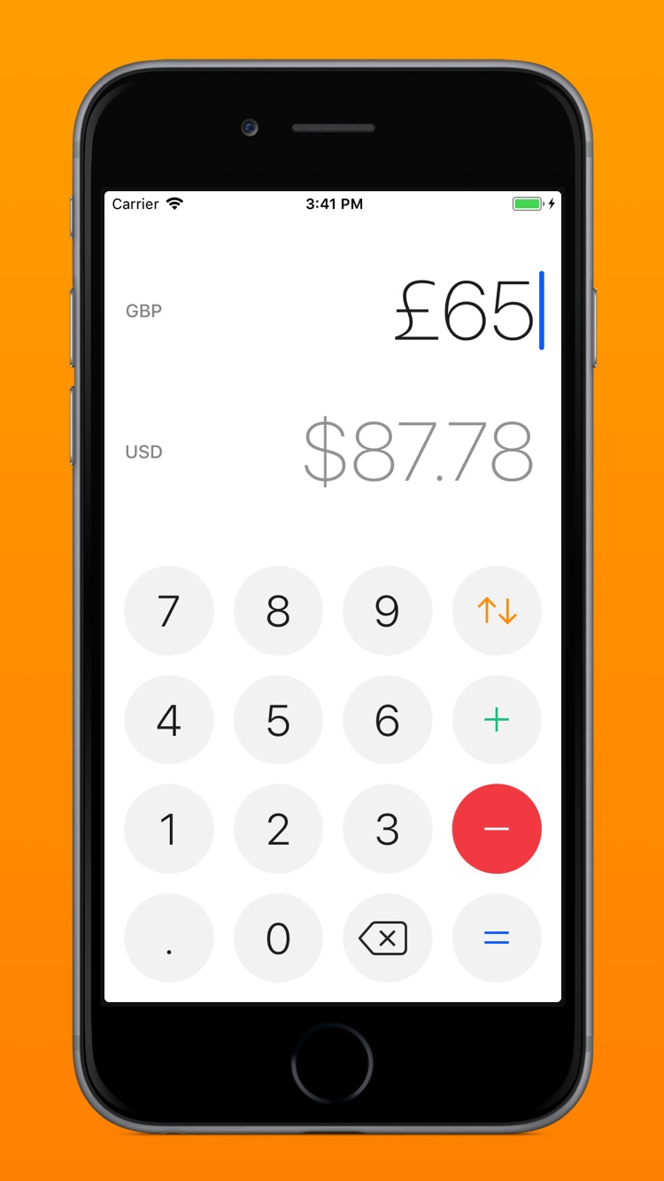 View of Currency for iOS – A free currency converter and calculator by Nuno Coelho Santos